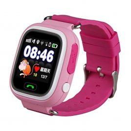 SQ90 pink gyermek GPS nyomkövető óra érintő kijelzővel