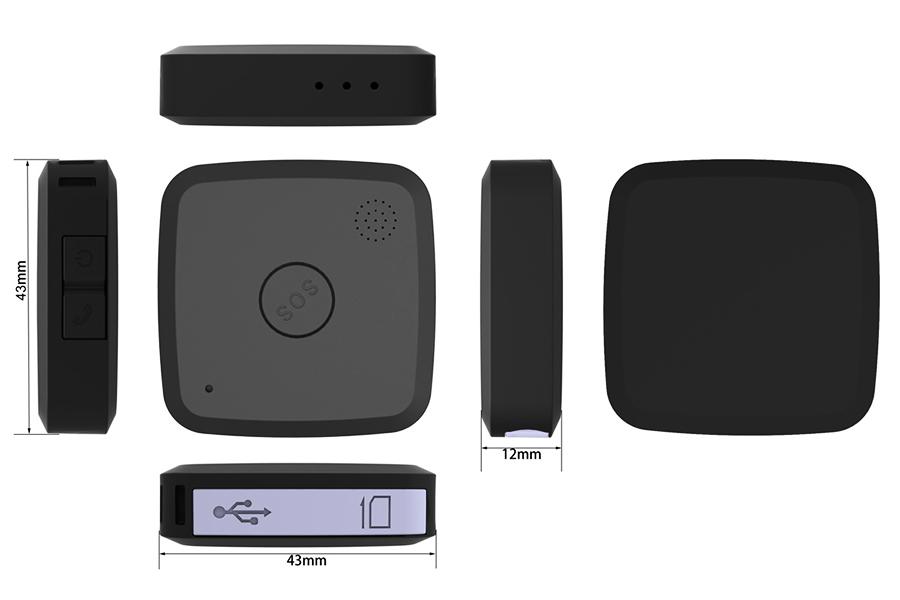 SDS008 Személy GPS nyomkövető nyaklánc Gps nyomkövetés
