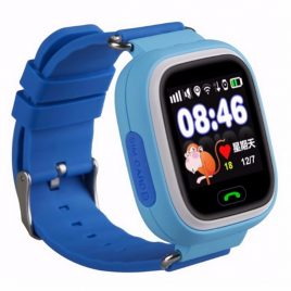 SQ90 kék GPS nyomkövető óra gyermeknek érintő kijelzővel