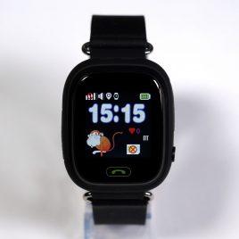 SQ90 fekete GPS nyomkövető óra gyermeknek érintő kijelzővel