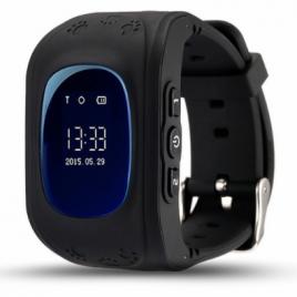SQ50 Fekete GPS nyomkövető óra gyerekeknek NEM érintőkijelzős